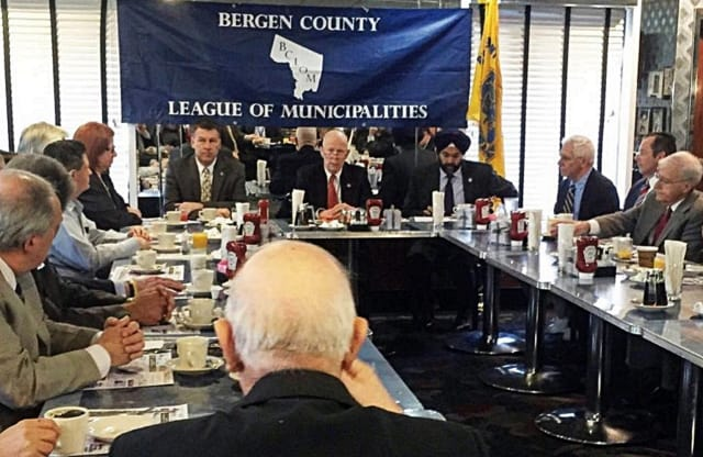 The Bergen County League of Municipalities recently held its monthly breakfast meeting.