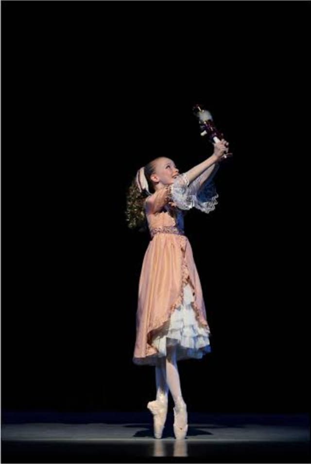 """Seventh-grader Elisabeth Beyer from Rye, N.Y., has a top role in the """"Nutcracker"""" production by the Greenwich Ballet Academy."""