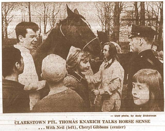 It's Throwback Thursday at the Clarkstown Police Department where they featured a photo from 1966 of an officer explaining horses to a group of children.