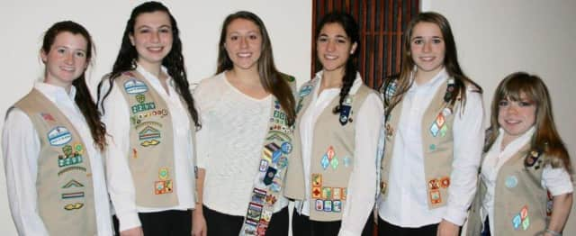 Briarcliff Girl Scouts Sarah Allen, Erynn Altabef, Jacqueline Contento, Lauren Friedman, Alena Galen,  Lexi Grasso, and Allie Herskovitz have all earned Girl Scouting's top honor, the Gold Award, for their community work.