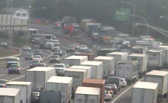 I-95 on a busy day in Stratford