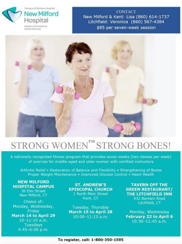 """New Milford Hospital presents the fitness program series, """"Strong Women Strong Bones."""""""