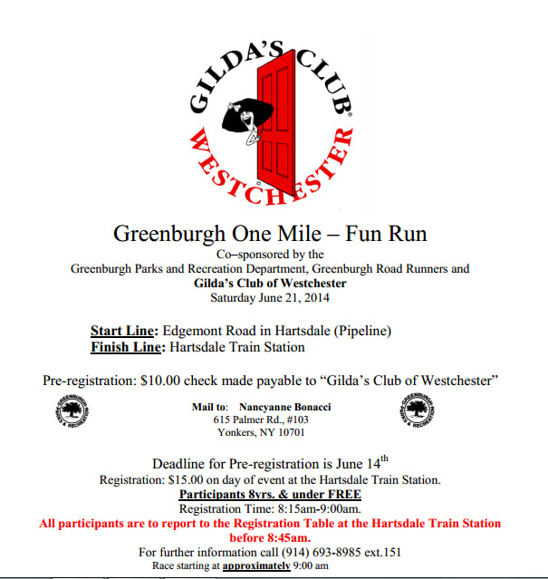 Greenburgh businesses will host a 1-mile fun run in June to benefit Gilda's Club of Westchester.